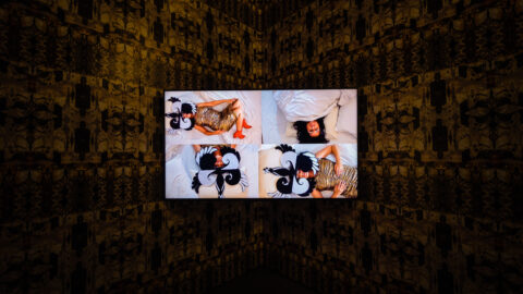 Cinzia Mutigli, I've Danced at Parties, 2021. Installation view at g39. Survey II is led by Jerwood Arts in collaboration with g39 and Site Gallery. Photo: Polly Thomas.