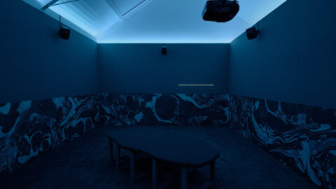 Freya Dooley, Temporary Commons, 2021. Installation view at Jerwood Arts. Commissioned for Jerwood Solo Presentations 2021, supported by Jerwood Arts. Photo: Anna Arca