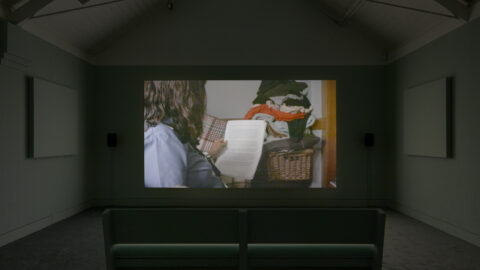 Bryony Gillard, I dreamed I called you on the telephone, 2021. Commissioned for Jerwood Solo Presentations 2021, supported by Jerwood Arts. Installation view at Jerwood Space. Photo: Anna Arca.