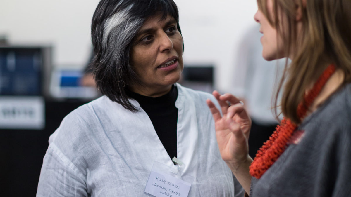 Shonagh Manson, Director, Jerwood Charitable Foundation and Kully Thiarai, Artistic Director, National Thetare Wales. Image Hydar Dewachi